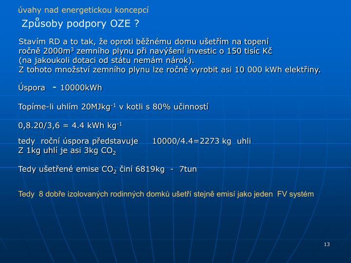 úvahy nad energetickou koncepcí