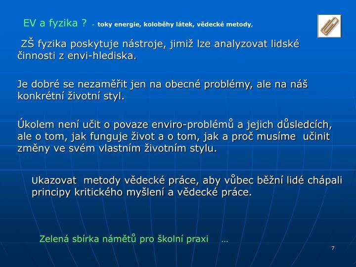 EV a fyzika ?