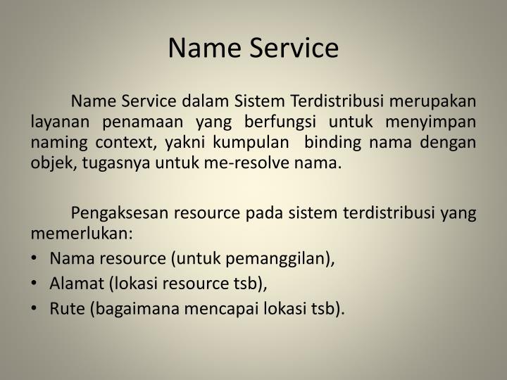 Name Service