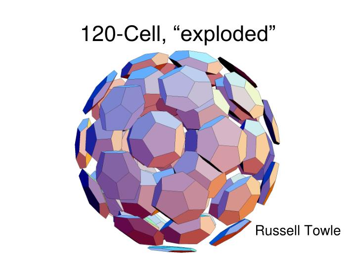"""120-Cell, """"exploded"""""""