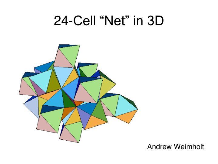 """24-Cell """"Net"""" in 3D"""