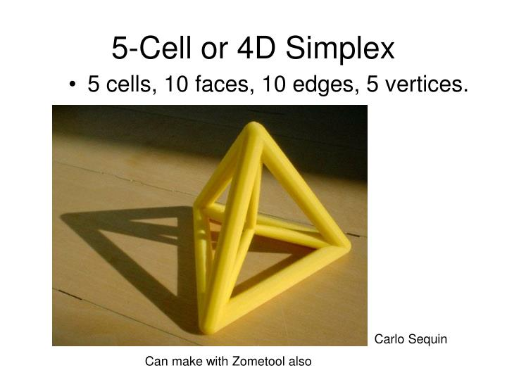 5-Cell or 4D Simplex