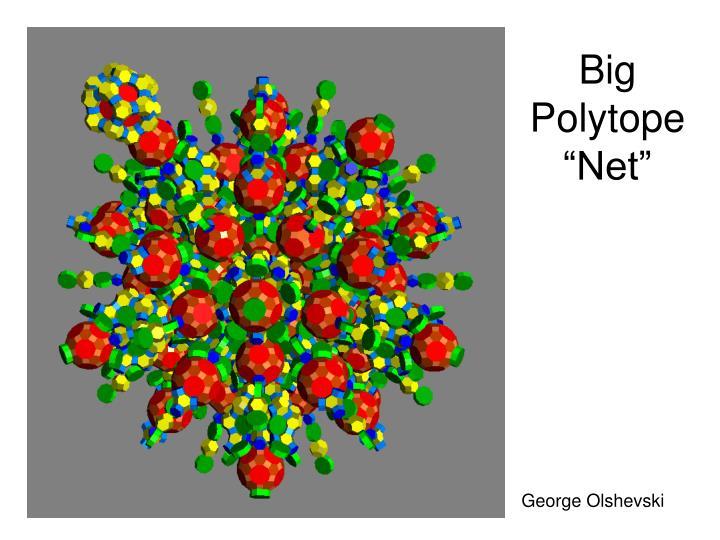 "Big Polytope ""Net"""