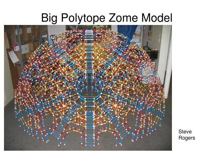 Big Polytope Zome Model