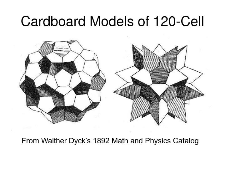 Cardboard Models of 120-Cell