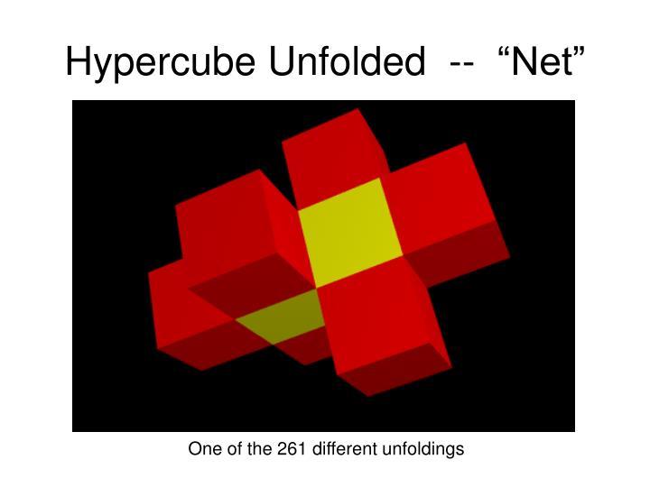 """Hypercube Unfolded  --  """"Net"""""""