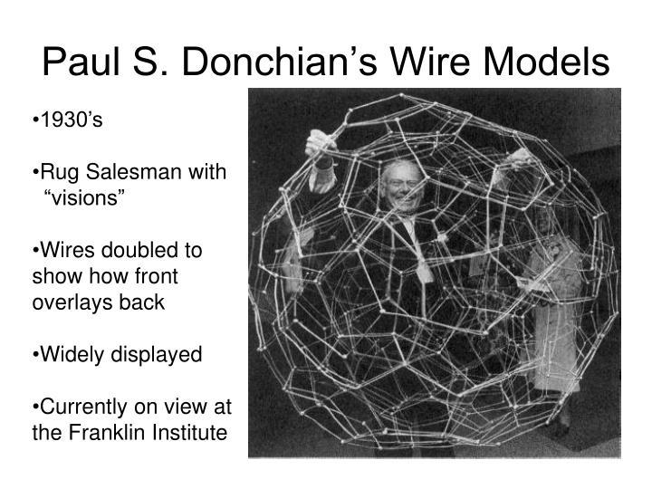 Paul S. Donchian's Wire Models