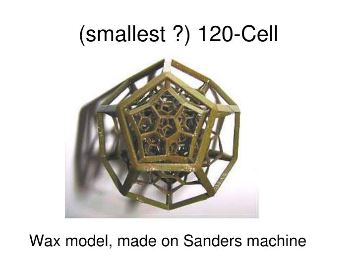 (smallest ?) 120-Cell