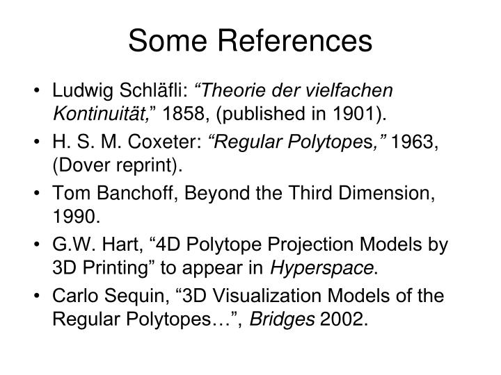 Some References