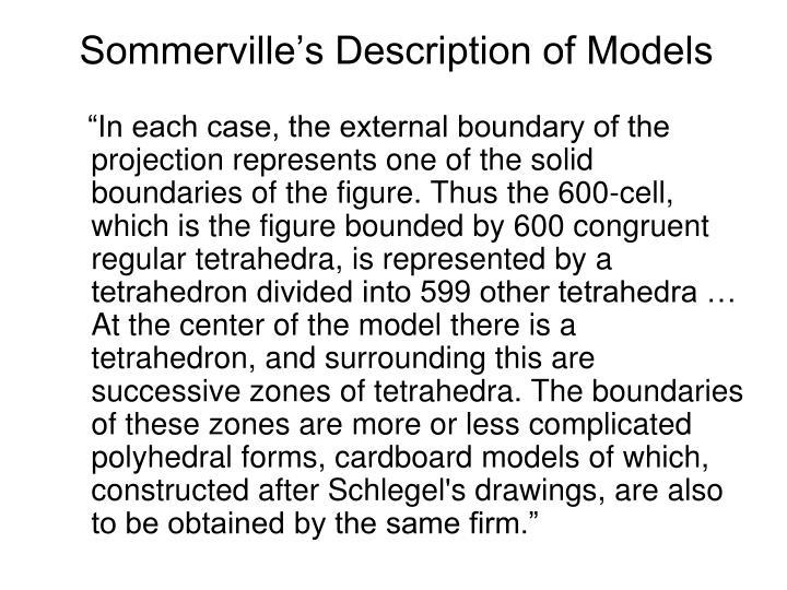 Sommerville's Description of Models