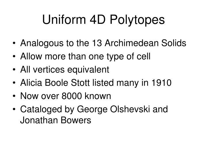 Uniform 4D Polytopes