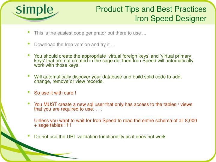Product Tips and Best Practices