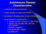 autoimmune disease characteristics