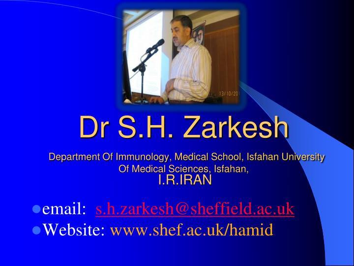 Dr S.H.