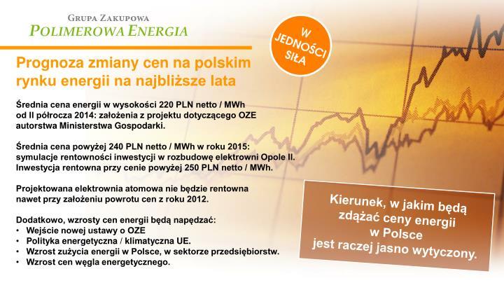 Prognoza zmiany cen na polskim rynku energii na najbliższe lata