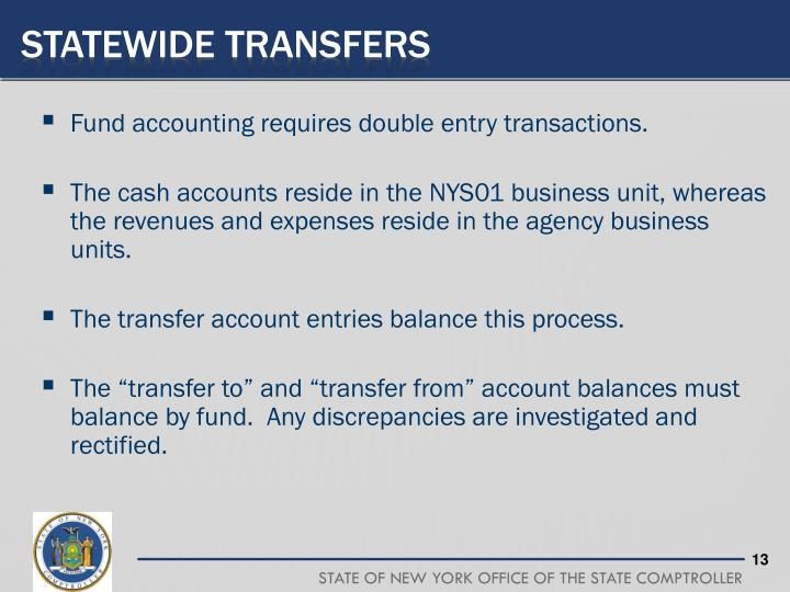 Statewide Transfers