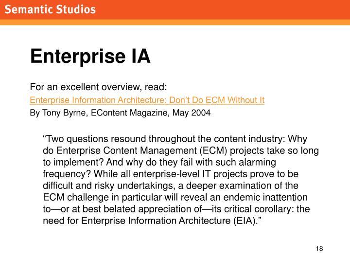 Enterprise IA