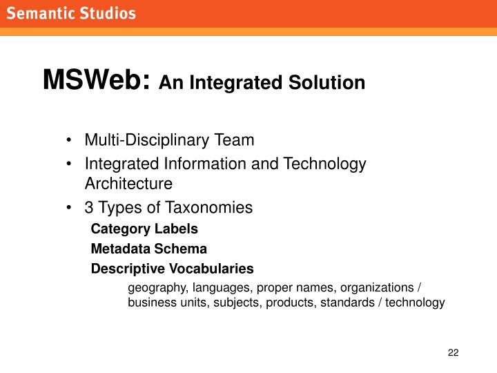 MSWeb: