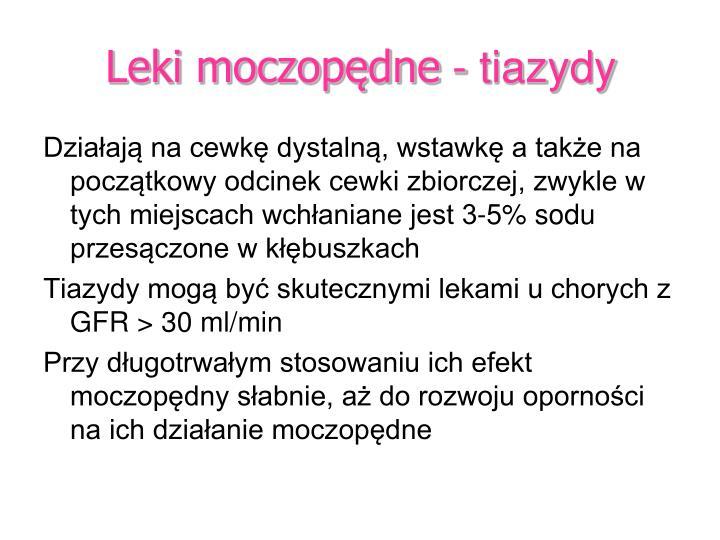 Leki moczopędne