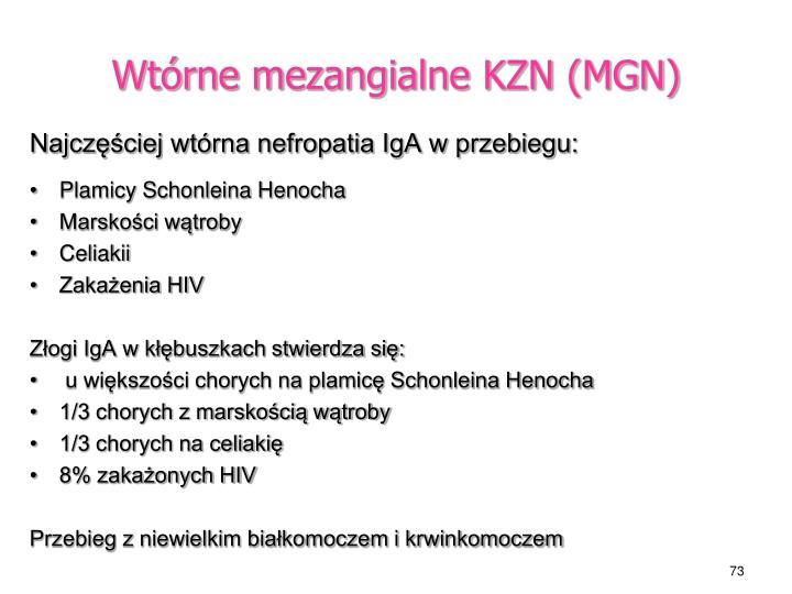 Wtórne mezangialne KZN (MGN)