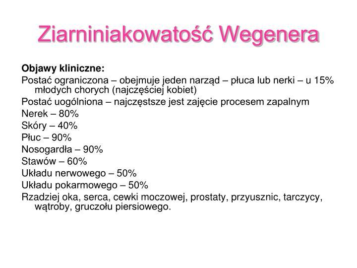 Ziarniniakowatość Wegenera