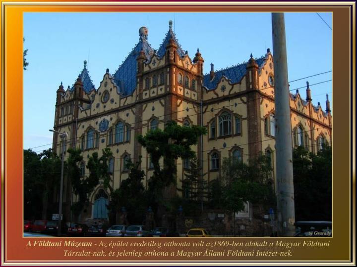 A Földtani Múzeum