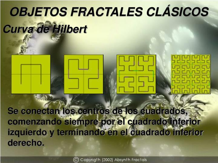 OBJETOS FRACTALES CLÁSICOS