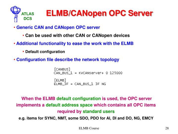 ELMB/CANopen OPC Server