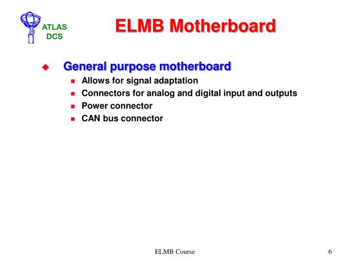 ELMB Motherboard