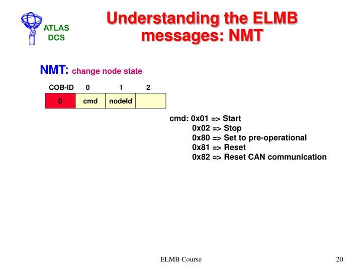 Understanding the ELMB messages: NMT