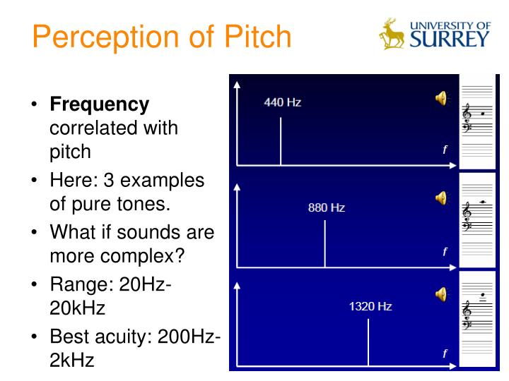Perception of Pitch