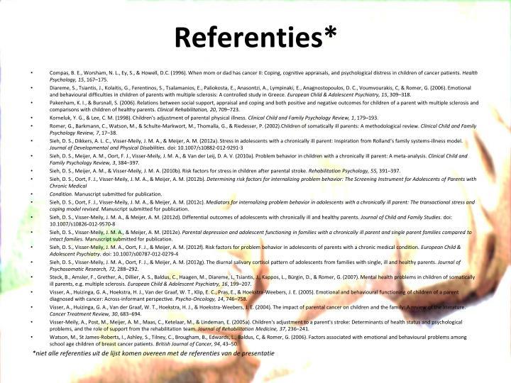 Referenties*