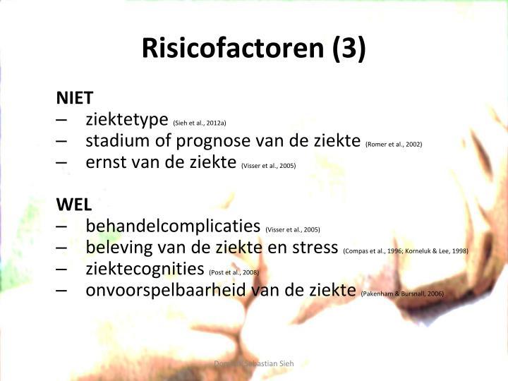 Risicofactoren (3)