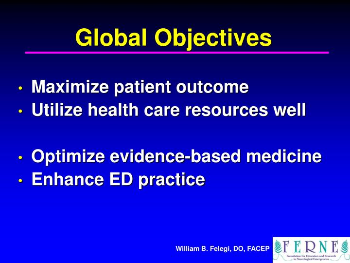 Global Objectives