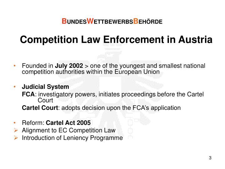 Competition Law Enforcement in Austria