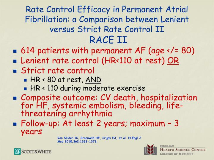 Rate Control Efficacy in Permanent Atrial Fibrillation: a Comparison between Lenient versus Strict Rate Control II