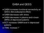 gaba and qeeg