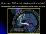 how does rtms w ork for brain electrical activity