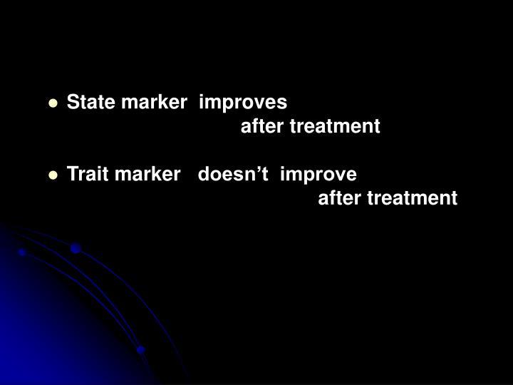 State marker  improve