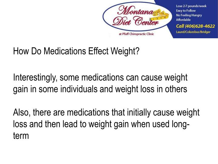 How Do Medications Effect Weight?