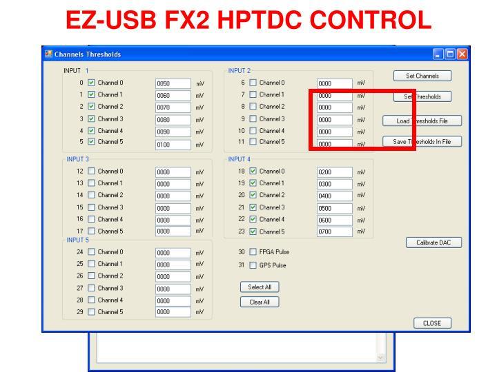 EZ-USB FX2 HPTDC CONTROL