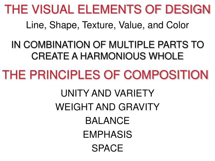 THE VISUAL ELEMENTS OF DESIGN