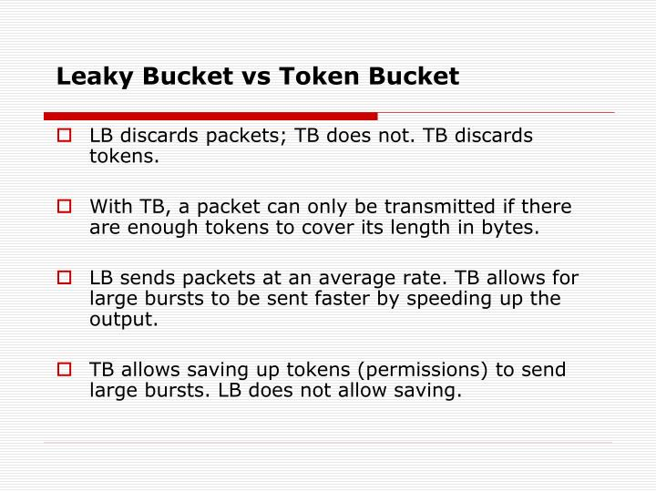 Leaky Bucket vs Token Bucket