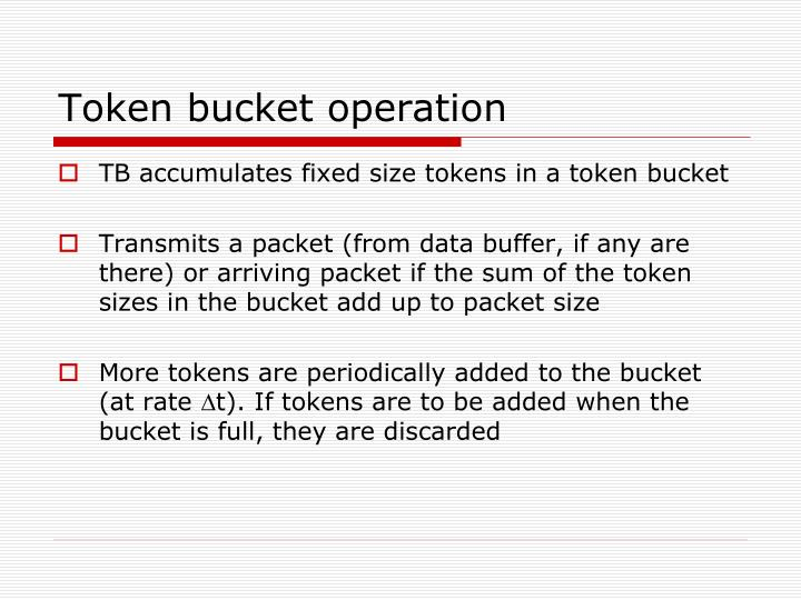 Token bucket operation