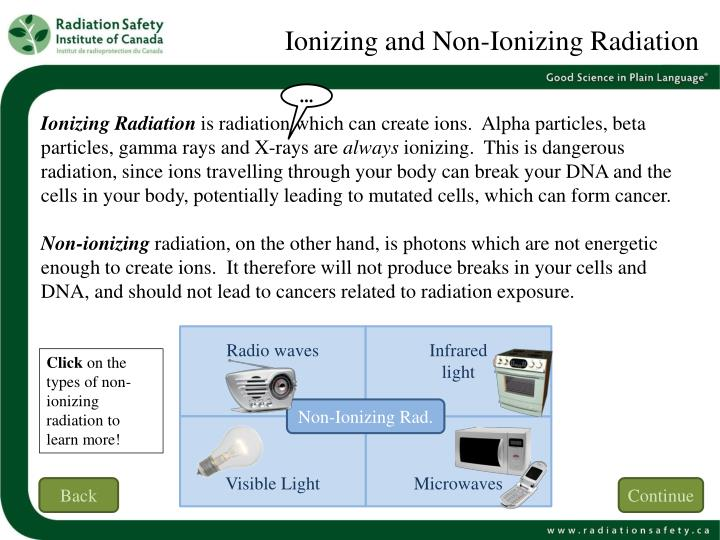 Ionizing and Non-Ionizing Radiation