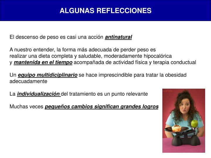 ALGUNAS REFLECCIONES