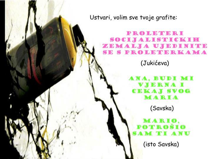 Ustvari, volim sve tvoje grafite: