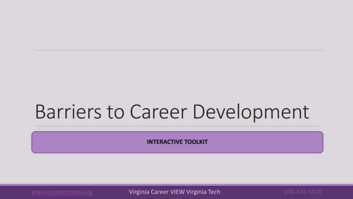 Barriers to career development