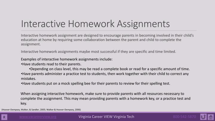 Interactive Homework Assignments