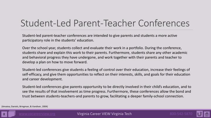 Student-Led Parent-Teacher Conferences